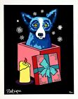 George Rodrigue BLUE DOG Midnight Surprise 2000 Hand Signed & Numbered Serigraph