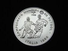 Stempelglanz Fußball internationale Münzen aus Silber