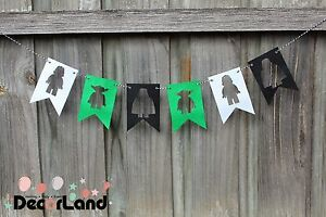 Star War Party Felt Bunting Banner Flag Birthday Party Hanging Decoration