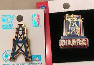 Set of 2 Houston Oilers Vintage Logo Pins Hard to find