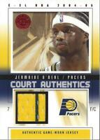 2004-05 E-XL Court Authentics #JO Jermaine O'Neal Jersey /500 - NM-MT