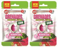 Grenades Gum -MelonBerry Slam 2-PACK Explosively Intense, Strong Gum! Sugar-Free