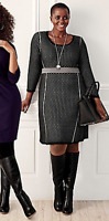Lane Bryant Sweater Dress Womens Plus 22/24 Perforated Day To Evening Shimmer