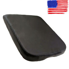 FOR Dodge Ram Synthetic Leather Console Lid Armrest Black Cover Fits 2002-2008