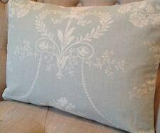"12x20"" Laura Ashley cushion cover Josette Duck Egg & Austen Off White"