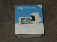 Ring Spotlight Cam Battery White HD Security Camera with Two-Way Talk & Siren