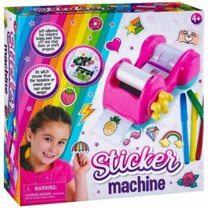 Children's Sticker Machine Create Your Own Template Peel Self Adhesive Maker Fun
