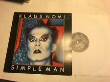 KLAUS NOMI Simple Man LP 1982 RCALP 6061 uk original new wave opera bowie rare!