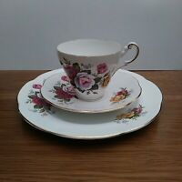 Vintage Regency Teacup, Saucer & Plate by Royal Crest; Mismatched Trio Tea Set