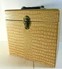 """78rpm / 10"""" RECORD STORAGE BOX ORIGINAL VINTAGE ITEM 1950's -- VERY NICE!"""