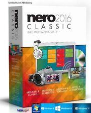 Nero 2016 Classic Vollversion Multimedia Suite Fotos Musik Videos brennen NEU