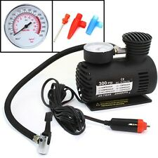 Portable 12 Volt Mini Air Compressor Pump With Gauge Car 300 PSI Tire Inflator