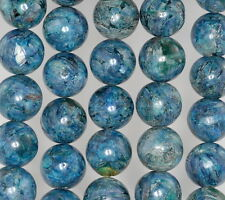 16MM SUPER KYANITE GEMSTONE BLUE ROUND LOOSE BEADS 15.5