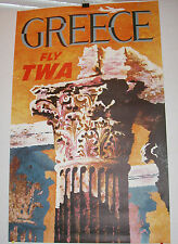 TWA POSTER TO GREECE