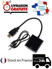 CABLE ADAPTATEUR MICRO HDMI MALE / VGA FEMELLE / AUDIO / USB - MICRO USB