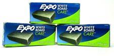 3-PACK Expo White Board Care Eraser 81505 Dry Erase Eraser  - NEW OPEN BOX