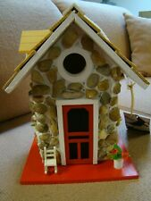 Cottage Charmers Handmade Fieldstone Birdhouse, NEW
