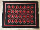 """100% NATURAL WOOL 23""""x32""""RUG #CARPET #VINTAGE knitted double-sided BULGARIA"""