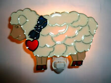"""Stained Glass Style """"Sheep"""" Night Light"""