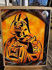 Spray Paint Art - Star Wars Darth Vader Force the Dark Side Space Original 22x28