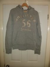 Mens Hollister Grey Cotton Hoodie Size Small