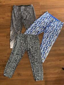 Womens Calvin Klein Leggings Size M Cropped VGUC