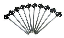 10 x GROUND ROCK TENT PEGS MARQUEE STAKES camping caravan motorhome awnings
