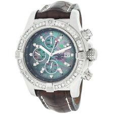 Orologi da polso Breitling con cinturino in pelle con cronografo