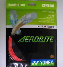 2 Packs YONEX Badminton Hybrid String Aerobite, BG AB,  Red/White, Made in Japan
