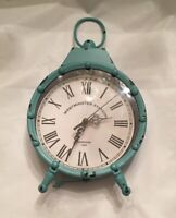 WESTMINSTER  STATION TEAL MANTEL/WALL CLOCK