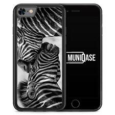 iPhone 8 Hülle SILIKON - Zebra Foto - Motiv Design Tiere Schön Süß - Handyhülle