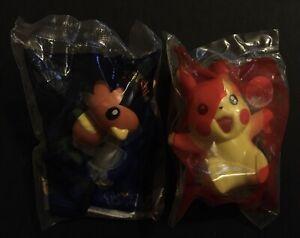 2 X Pokemon McDonalds Figures Cards Pikachu Torchic 2018 RARE NEW