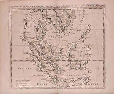 Antique map, Le royaume de Siam