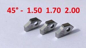 Set of 45°-1.5, 1.7, 2.0mm.valve Seat cutting tip bit, SERDI ROTTLER SUNNEN