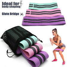 3 PCS Ladies Indoor Fabric Exercise Resistance Bands Hips Circles Yoga home gym