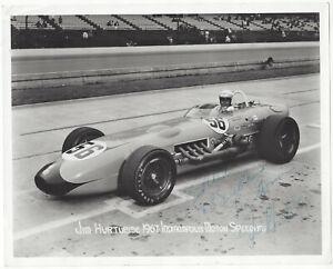 Old Original Signed Indy 500 Race Car Driver Photo Jim Hurtubise 1967 Very Rare