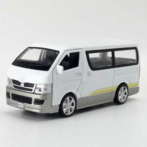 1:32 Toyota Hiace Van Model Car Diecast Gift Toy Vehicle Kids White Pull Back