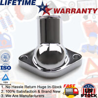 Chrome Water Neck Thermostat Housing For Chevy 55-65 SBC O Ring 350 327 400 454