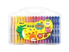 Pasnet Color Pencil 36 Colors AMOS Premium Non-toxic Silky Twisters Crayon