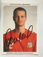 Autografo originale DAVID ROZEHNAL-Cartolina Ufficiale Rep.Ceca-LAZIO-Lille/PSG