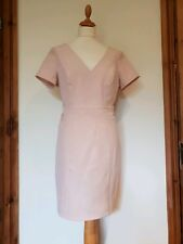 Kardashian Kollection For Lipsy Blush Nude Fitted Sheer Panel Dress, Zip Size 14