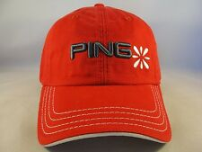 e50dd921a7b05 Womens Ping Golf Adjustable Strap Cap Hat Red