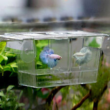 Aquarium Fish Tank Guppy Double Breeding Breeder Rearing Trap Box Hatchery Case