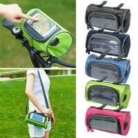 Multifunction Handlebar Front Tube Bike Phone Bag Holder Cycling Touch Screen