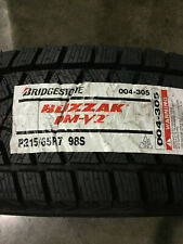 1 New 215 65 17 Bridgetsone Blizzak DM-V2 Snow Tire