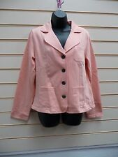 LADIES JACKET CORAL SIZE 14 SUMMER JERSEY COLLAR CASUAL / FORMAL  BNWOT