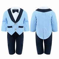 Newborn Intant Baby Boy Gentleman Clothes Romper Tops Jumpsuit Coat  Outfits