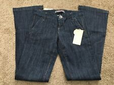 New Younique Women's Jeans Dark Blue 3 Button High Waist Stretch