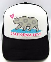 CALIFORNIA LOVE Snapback Cap Hat Cali Republic Bear Trucker Mesh Adult OSFM  NWT 23619dac98f0