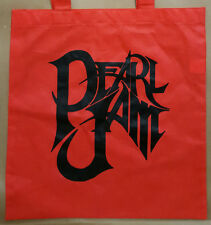 2012 Pearl Jam Tote Bag Shopping Black on Red not poster hoodie or t-shirt